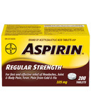Aspirin 325 mg Regular Strength Tablets Large Bottle