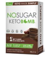 No Sugar Company Keto Bomb Dark Chocolate Fudge Brownie