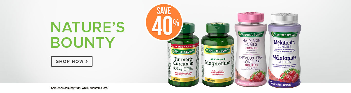 Save 40% off Nature's Bounty