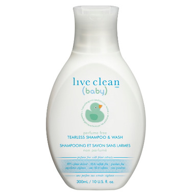 Live Clean Baby Perfume Free Tearless Shampoo & Wash