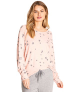 P.J. Salvage Peachy Party Long Sleeve Top Blush Stars