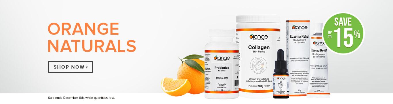 Save up to 15% on Orange Naturals