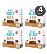 Paquet de barres protéinées à saveur de carrés au chocolat pour enfants de Simply Protein