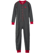 Hatley Charcoal Bear Naked Kids Union Suit