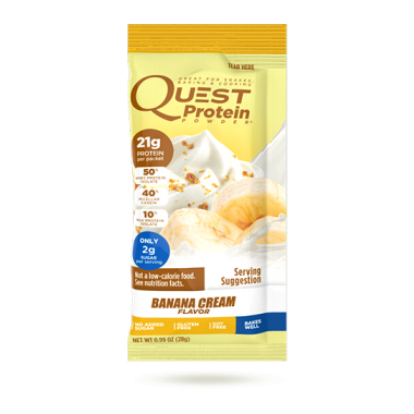 Quest Nutrition Banana Cream Protein Powder Packet