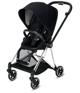 Cybex Mios Chrome Black Frame with Premium Black Seat Pack