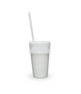 Luumi Unplastic Silicone Lid and Straw Clear