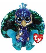 Ty Flippable Tyson Sequin Peacock Medium