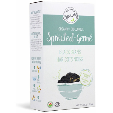 Second Spring Organic Sprouted Black Beans