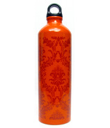 Gaiam Neo-baroque Burnt Orange Aluminum Water Bottle