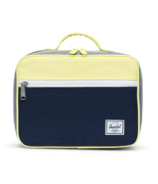 Herschel Supply Pop Quiz Lunch Box Peacoat & Grey Crosshatch