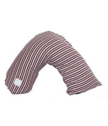 Posh & Plush x L'ovedbaby Nursing Pillow Eggplant Stripe