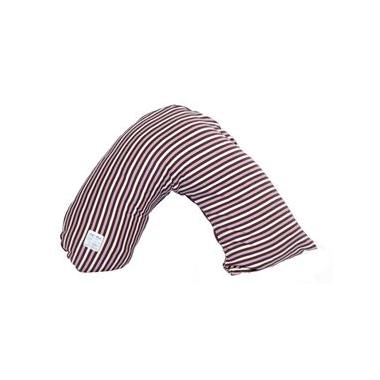 Posh & Plush x L\'ovedbaby Nursing Pillow Eggplant Stripe