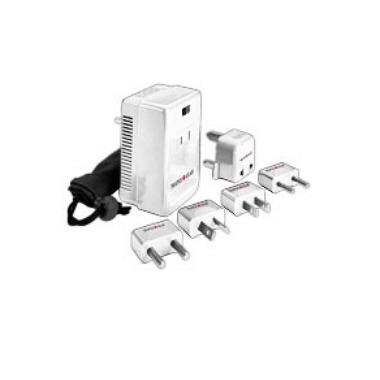 Maple Leaf Travel Dual Wattage Converter & Adapter Plug Kit