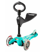 Micro of Switzerland Mini Micro 3-in-1 Deluxe Kickboard Aqua