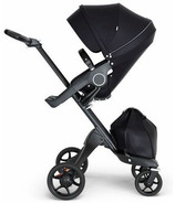 Stokke Xplory Black Chassis & Stroller Seat Black with Black Handle