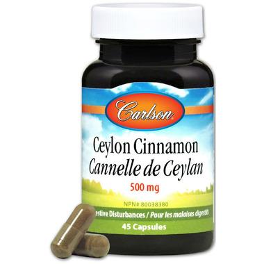 Carlson Ceylon Cinnamon 500 mg