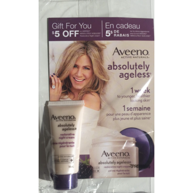 Buy Aveeno Absolutely Ageless Restorative Night Cream Sample from ...