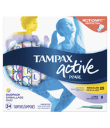 Tampax Pearl Active Plastic Tampons Duo-Pack