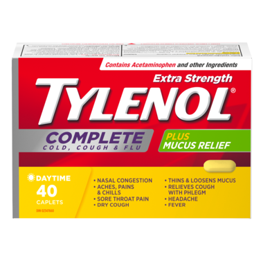 Tylenol Extra Strength Complete Cold, Cough & Flu Caplets
