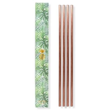 W&P 10 Inch Metal Straws Copper
