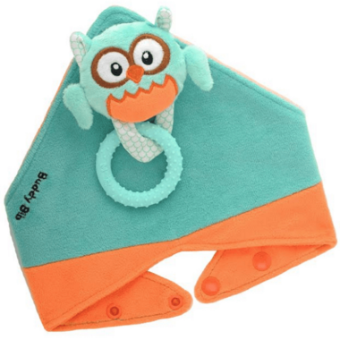Buddy Bib 3-in-1 Sensory Teething Toy & Bib Owl