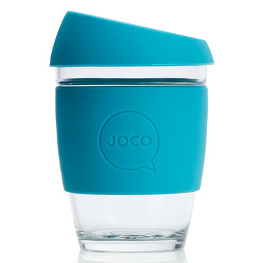 JOCO Glass Reusable Coffee Cup in Blue