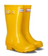 Hunter Boots Original Kids Gloss Rainboot Wader Yellow