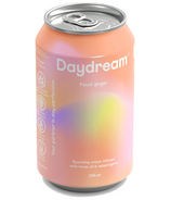Daydream Peach Ginger Sparkling Water Infused with Hemp Seed Oil