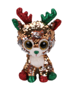Ty Flippables Tegan The Christmas Sequin Reindeer Medium