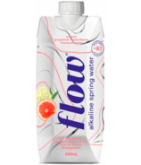Flow Alkaline Spring Water Organic Grapefruit Elderflower