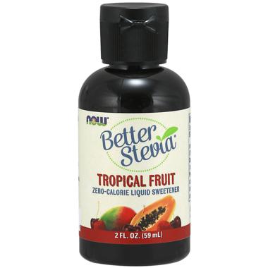 NOW BetterStevia Liquid Sweetener Tropical Fruit