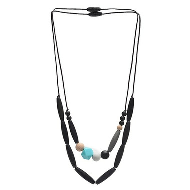Chewbeads Metropolitan Teething Necklace Black