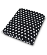 OLLI + LIME Swiss Cross Fitted Crib Sheet Black and White