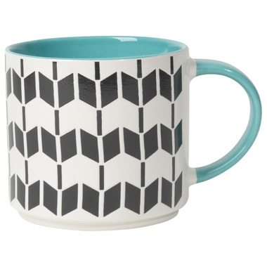 Now Designs Mug Stacking Geo Turquoise