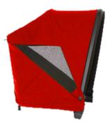 Veer Custom Retractable Canopy Pele Red