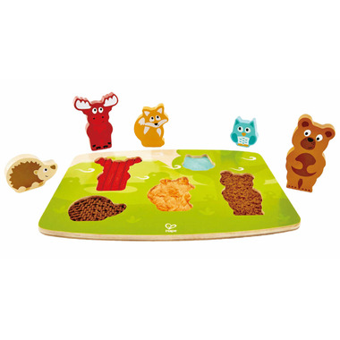 Hape Toys Forest Animal Tactile Puzzle