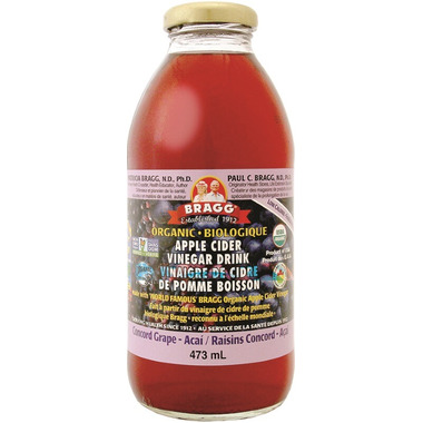 Bragg Organic Apple Cider Vinegar Drink Concord Grape Acai
