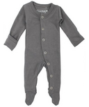 L'ovedbaby Organic Footed Overall Gray