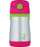 Foogo Stainless Steel Vacuum Insulated Straw Bottle Watermelon & Green