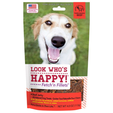 Look Who\'s Happy Fetch\'n Fillets Beef Jerky