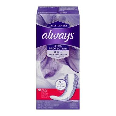 Always Dri-Liners Plus Extra Long Odor Lock