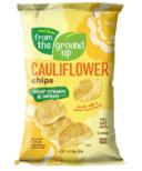 From the Ground up Cauliflower Potato Chips Sour Cream & Onion
