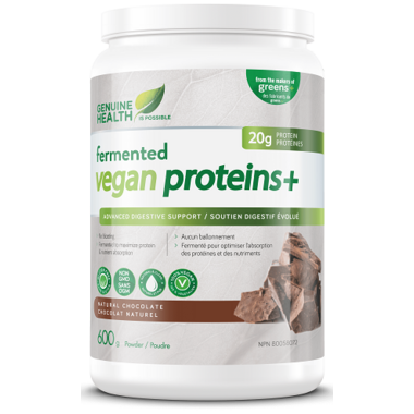 Genuine Health Fermented Vegan Proteins+ Natural Chocolate