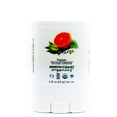 North Coast Organics Pepper Organic Deodorant Travel Size