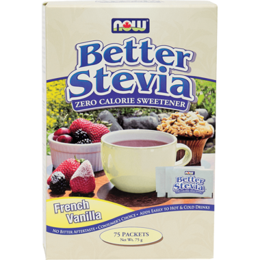 NOW BetterStevia Extract Packets French Vanilla