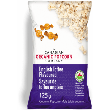 The Canadian Organic Popcorn Company English Toffee Popcorn