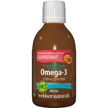 Webber Naturals Crystal Clean From The Sea Omega-3 Grapefruit