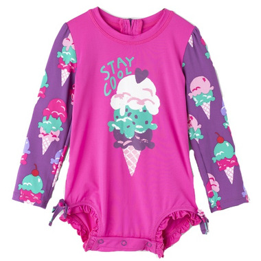 Hatley Baby Rashguard Swimsuit Ice Cream Treats