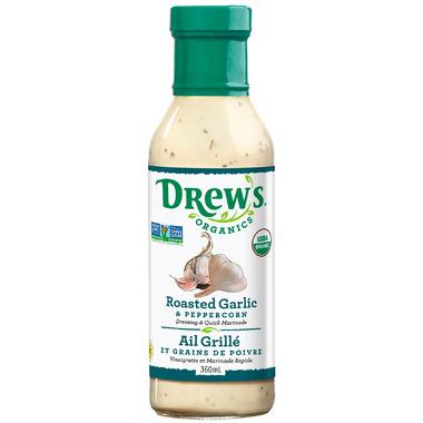 Drew\'s Organics Roasted Garlic & Peppercorn Dressing & Marinade